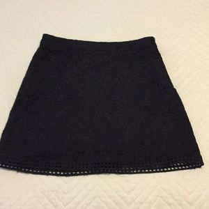 Forever 21 black lace mini skirt